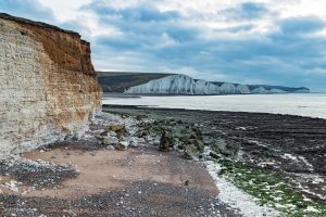During daylight, you could see the white cliffs continue for miles.