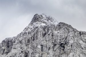 The top of Mount Triglav was covered with snow already in early September.
