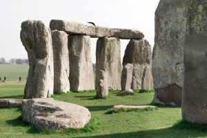 Close-up of Stonehenge.