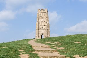 St Michael's Tower on top of Glastonbury Tor.